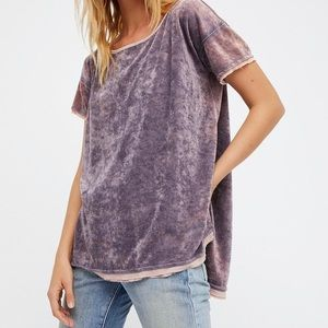 Free people we the free velvet Doran washed tee